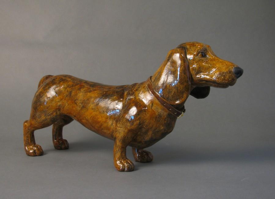 Ceramic Dashchund sculpture