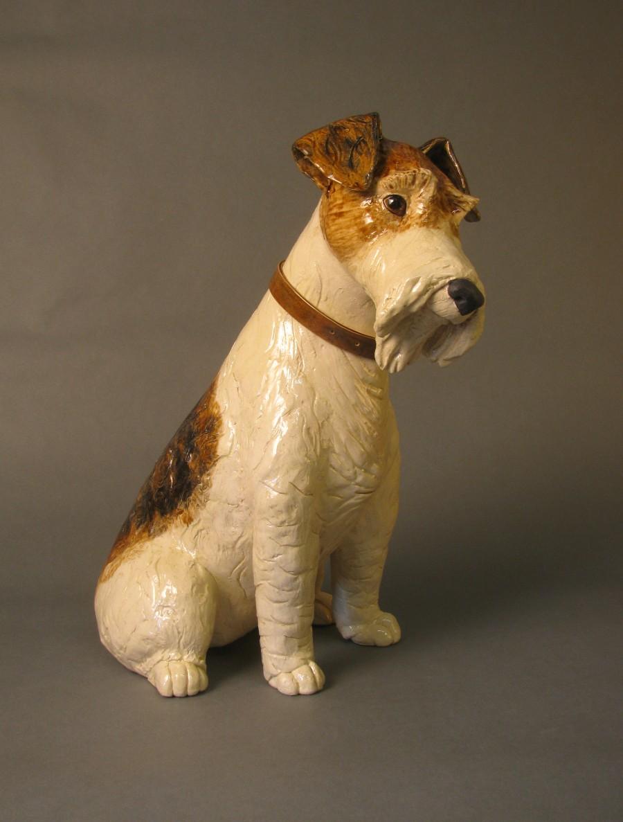 Fow terrier sculpture